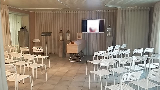 rouwcenter Segers Roosdaal aula